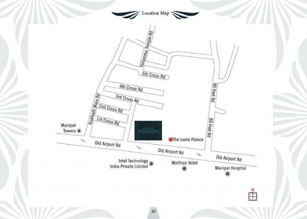 Prestige-Leela-Residences-Apartment-in-Kodihalli-Bangalore-Image-Location-Map