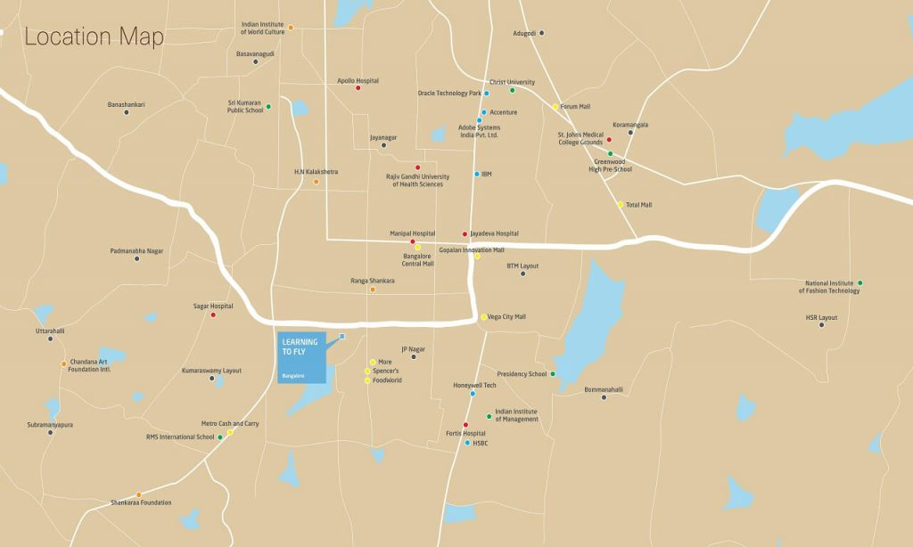 Total-Environment-Learning-to-Fly-JP-Nagar-Location-Map