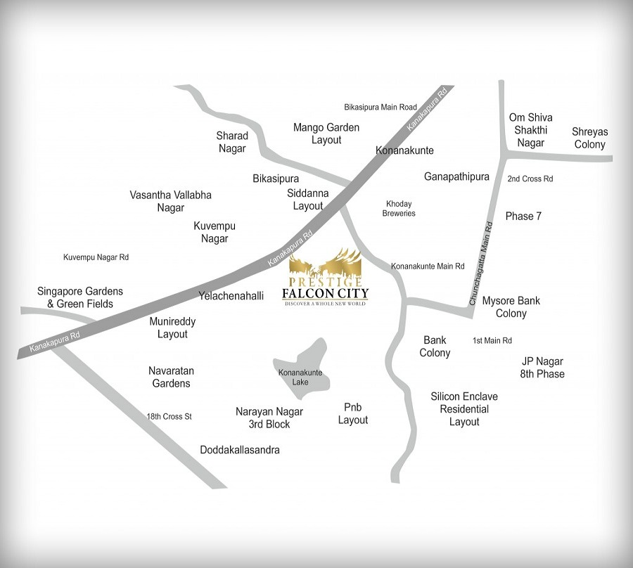 prestige-falcon-city-Kanakapura-rd-Bangalore-Image-Location-Map