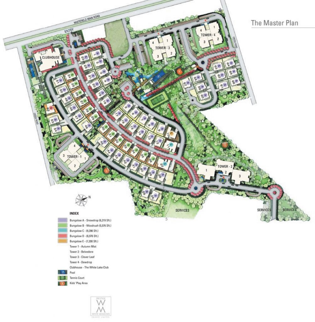 prestige-white-meadows-Villas-in- Whitefield-Bangalore-Image-Master-Plan