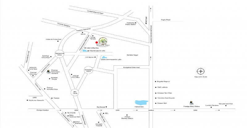 prestige-willow-tree-Vidyaranyapura-Bangalore-Image-Location-Map1
