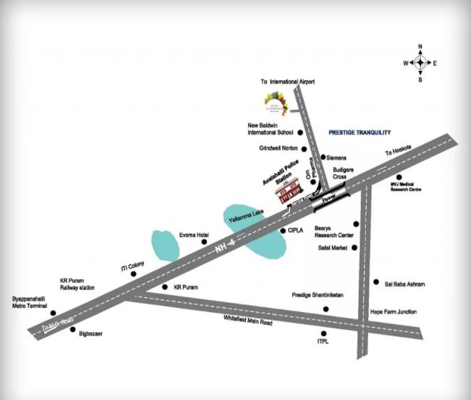prestige-glenwood-Villas-in-Avalon-Layout-Bangalore-Location-Map