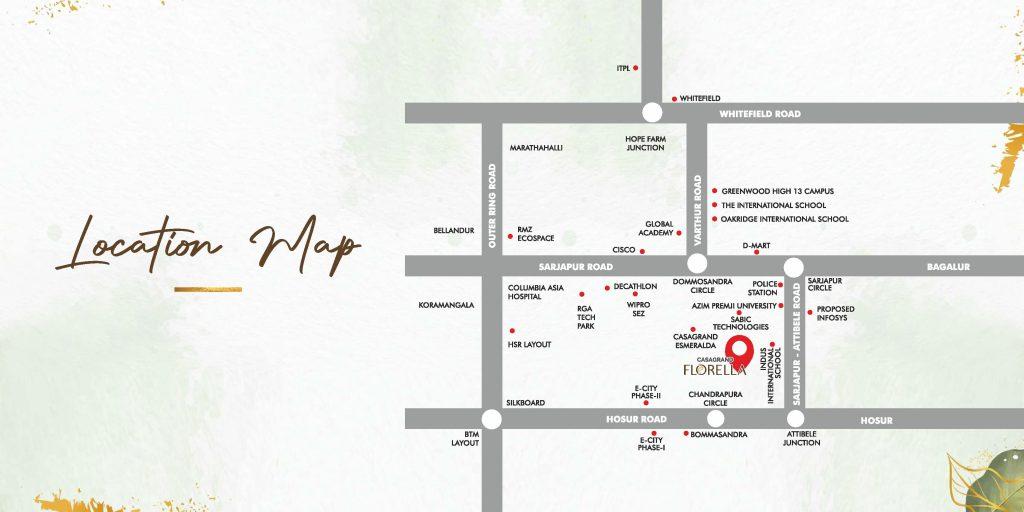 casagrand-florella-villas-in-sarjapur-bangalore-budget-villas-by-casagrand-location-map
