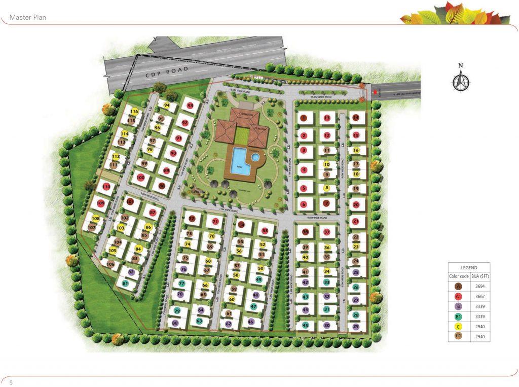 prestige-glenwood-Villas-in-Avalon-Layout-Bangalore-Image-Master-Plan