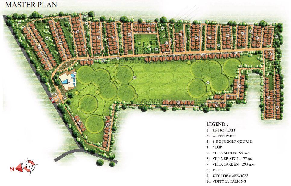 prestige-golfshire-Villas-in-Nandi hills-Bangalore-Image-Master-Plan