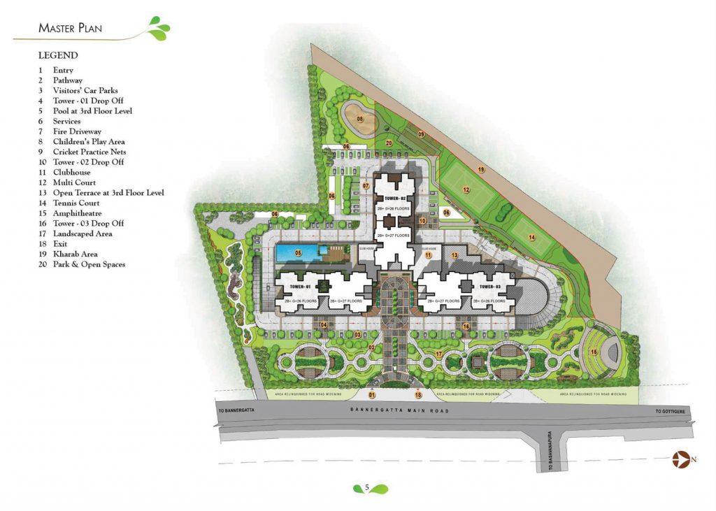 prestige-park-square-in-Bannerghatta-main-road-Bangalore-Image-Master-Plan