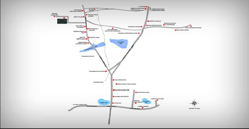 prestige-woodside-Villas-in-Yelahanka-Bangalore-Image-Location-Map