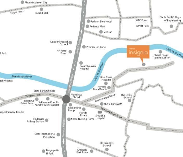mantra-keshavnagar-pune-location-map