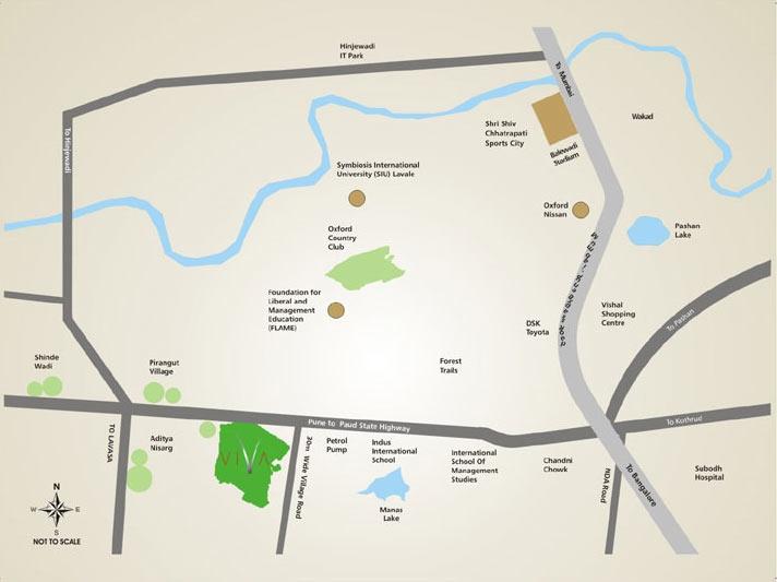 viva_k_raheja_pirangut_pune_residential_property_location_map