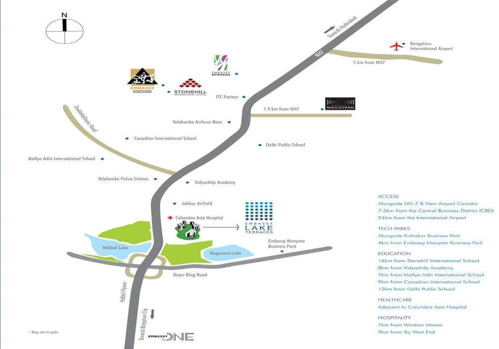 Embassy_Lake_Terraces_Hebbal_Location_Map