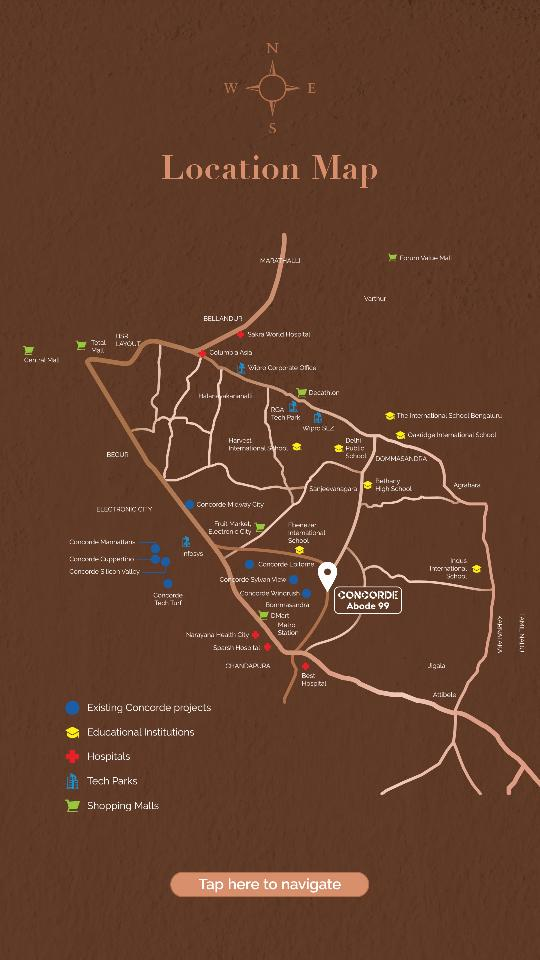 concorde-abode-99-location-map