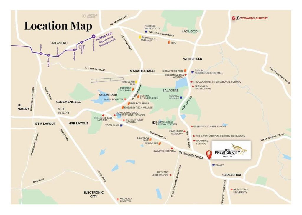prestige-green-acres-the-prestige-city-plots-Sarpur-Road-Location-Map
