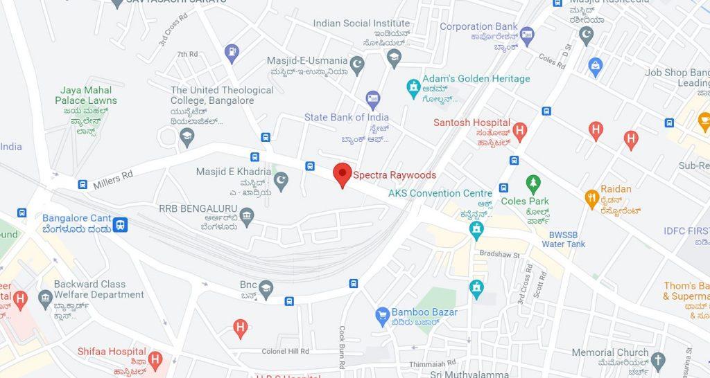 Raywoods_Location_map