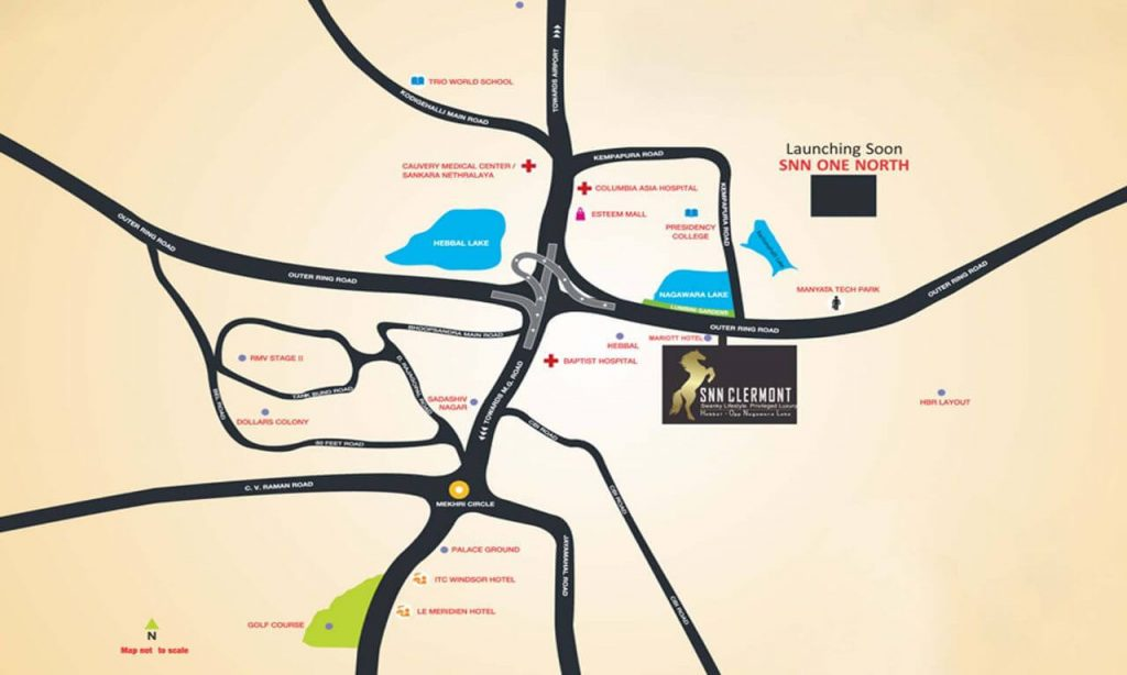 SNN_Clermont_Hebbal_Location_Map